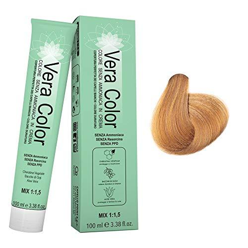 Vera Color - 9.3 Blond Super Clair Doré - Teinture Permanente Professionnelle Sans Ammoniaque - Crème Colorante à la Kératine Végétale, Aloe Vera, Baies de Goji - Couverture Totale - 100 ml