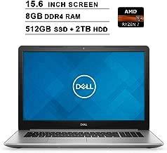 Dell 2019 Premium Inspiron 15 5000 15.6 Inch FHD Laptop (AMD Ryzen 7 2700U up to 3.8 GHz, 8GB DDR4 RAM, 512GB SSD + 2TB HDD, Radeon Vega 8, Bluetooth, WiFi, HDMI, Windows 10)