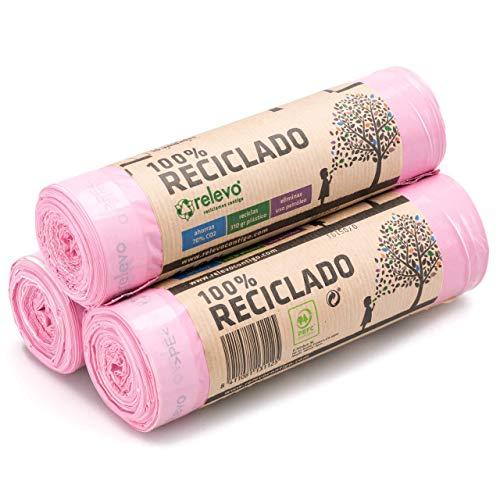 Relevo 100% Reciclado Bolsas Basura Perfumadas, extra resist