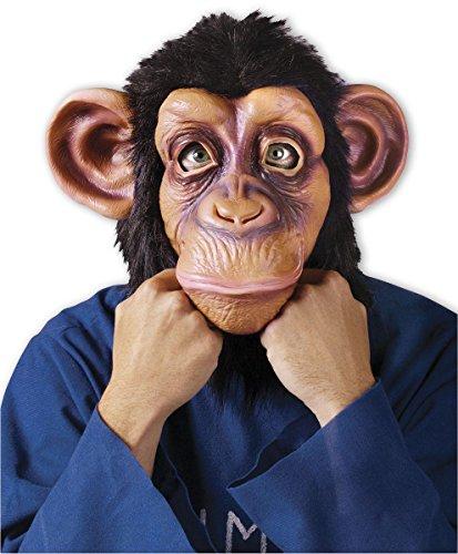 Close Up Comical Chimp Maske Schimpanse mit Plüschfell aus Kunststoff für Erwachsene