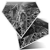 2 pegatinas de diamante de 7,5 cm BW – Bogotá Colombia City Paisaje divertido calcomanías para portátiles, tabletas, equipaje, libros de chatarra, frigorífico, regalo genial #42610