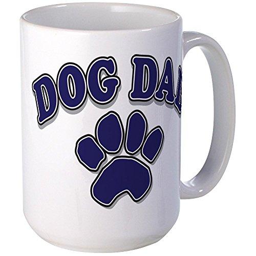 CafePress - Dog Dad Father's Day Large Mug - Coffee Mug, Large 15 oz. White...