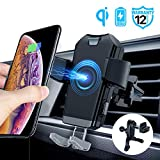 ACCGUYS Motorized Wireless Car Charger Mount,10W Qi Fast Charging Air Vent Phone Holder, Auto-Clamping Adjustable Car Mount Compatible with Samsung Galaxy Note 9/8/ S9/ S8,iPhone Xs Max/XR/X 8/8 Plus