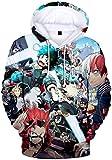 PANOZON Sudadera Hombre Impresión 3D de Anime Japonés Uniforme con Capucha Manga Ninja (L, Colección 57)