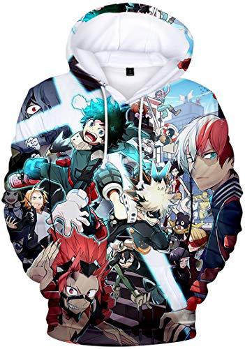 PANOZON Herren 3D Digitaldruck Japanische Manga Hoodie Anime Cosplay Kapuzenpullover(Gruppe2657,L)