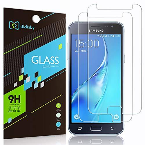 Didisky Pellicola Protettiva in Vetro Temperato per Samsung Galaxy J3 2016 [Tocco Morbido ] Facile da Pulire, Facile da installare, Garanzia a Vita [2 Pezzi ]