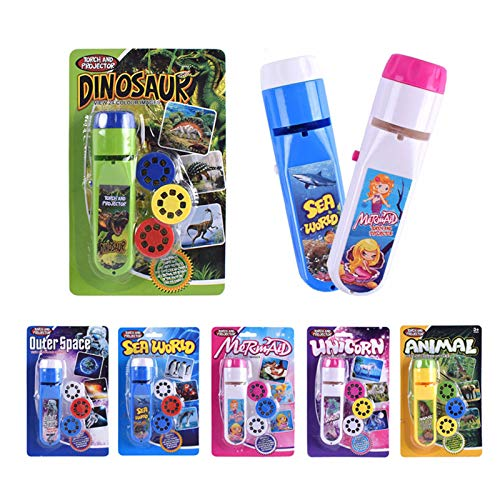 Projection Flashlight Children Dinosaur Projector Light, Toys for Kids Torch Projector, Cute Cartoon Toy Night Photo Picture Light Bedtime Learning Fun Toys for Girls Boys Xmas gift Wild animals