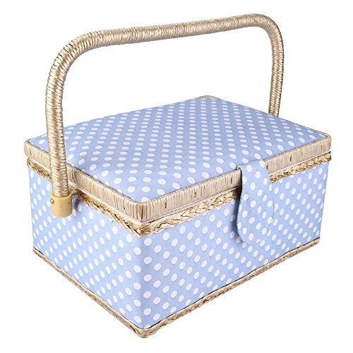 Great Price! Comfortable Handle Storage Box, Flip Type Organizer, Sewing Basket, Double-Layer for Needle Storage Sewing Tools