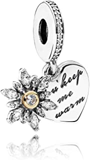 Pandora Sterling Silver Snowflake & Heart Charm 792012CZ