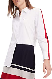 Tommy Hilfiger Damen Hemdbluse Amber Oversized Weiss (10) XXL