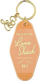 Orange Love Shack Vintage Motel Key Tag, 3 1/2 Inch