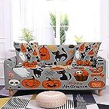 WXQY Funda de sofá Antideslizante elástica de Halloween patrón...