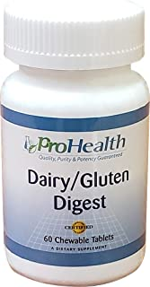 ProHealth Dairy/Gluten Digest (60 Chewable Berry Flavor Tablets) Digestive Enzyme Supplement | Supports Breakdown of Gluten and Dairy