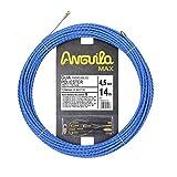 Anguila 75045014 - Guía pasacables, Poliéster Trenzado, 14 m, Especial Curvas, Azul