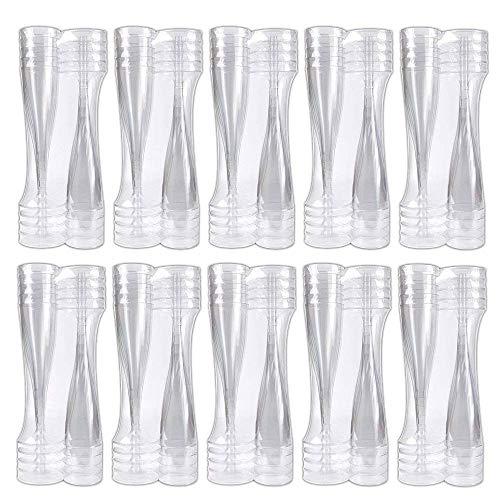 aoory 100 Stück Einweg Sektgläser Sektglas Champagner Glas Sektflöten Sektkelch Champagner Gläser Einwegsektglas 100ml Einweg Plastik Kunststoff