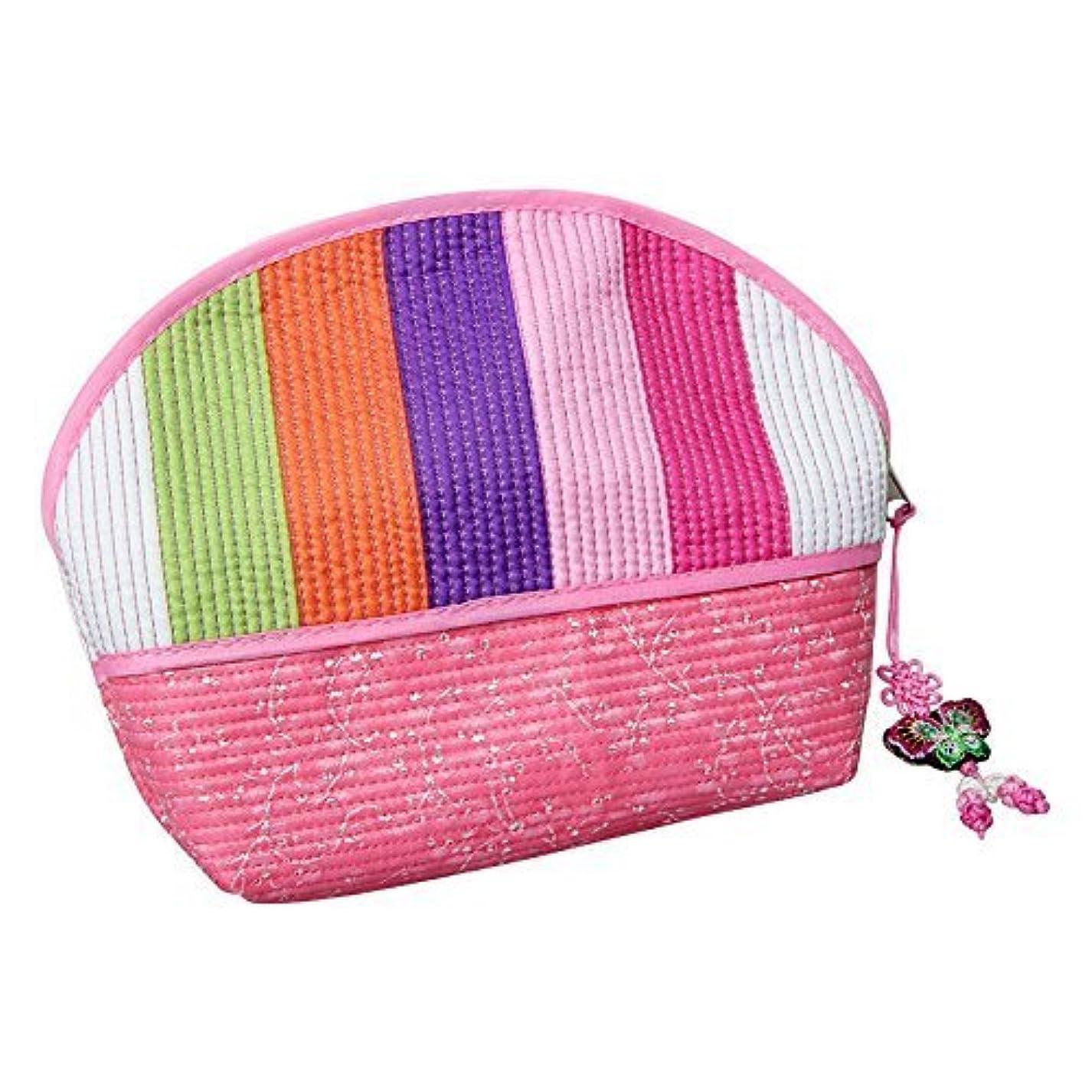 旋律的偉業比喩Cosmetic Pouch pink / 韓国の伝統的なパターン/韓国のお土産の贈り物 [並行輸入品]