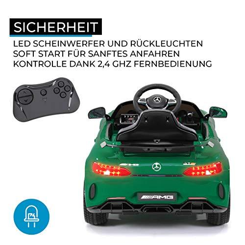 RC Kinderauto kaufen Kinderauto Bild 1: Actionbikes Motors Kinder Elektroauto Mercedes Amg GT-R - lizenziert – 2 x 25 Watt Motor – Ledersitz - Eva Reifen – Softstart - Kinderauto (Rot)*