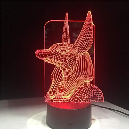Lámpara 3D Interruptor Remoto Táctil Base De Lava Blanca Negra Decoración Para El Hogar Regalos De Cumpleaños Para Niños Linterna
