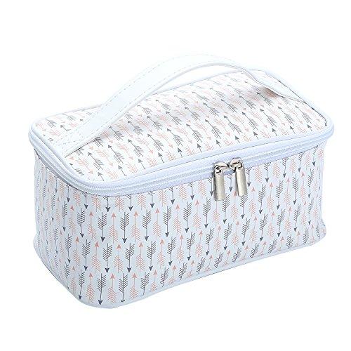 HOYOFO Cosmetic Bag Makeup Bags for Women Toiletry Storage Case Arrow Print Travel Makeup Pouch, L