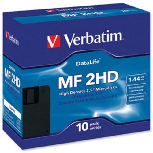 10er-Pack Disketten MF2HD VERBATIM (Formatiert)