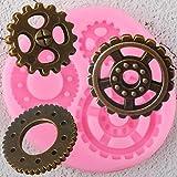 GJEFEGS Moldes de Silicona Baby Birthday Cupcake Topper Fondant Herramientas de decoración de Pasteles Candy Chocolate Gumpaste Moldes