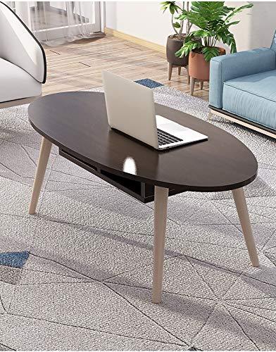 Mesa de centro, con almacenamiento y estante para sala de estar de oficina, muebles modernos, espresso vintage,Negro