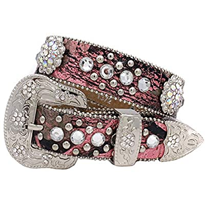 1372 Womens Western Belts Cowgirl Bling Belts Rodeo Belts Plus Size Western Belts For Cowgirls (CAMO-MULTI, Large)