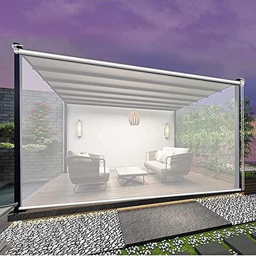 XIAOLIN Persianas Enrollables Transparentes para Exteriores, Cortina Ventana Vinilo Transparente para Exterior/Patio/Porche,Fácil Instalar (Color : Clear, Size : W105xL170cm)