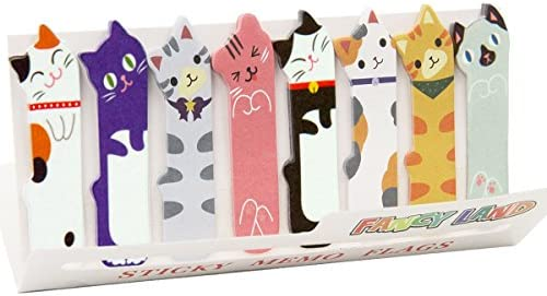 Cute Cat Sticky Memo Notes Index Tabs Page Markers for Office School Reading