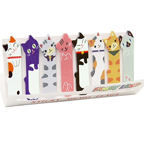 360 Cute Cat Sticky Notes Page Flags Index Tabs for Cat Lovers Kids Office School Gift Idea Large