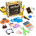 Kids Sewing Kit for Beginners - Animal Safari Sewing Kit for Kids Ages 8-12 Includes 7 Pre-Cut Mini Animals, Safety Sewing Accessories and Creativity Kit - Arts and Craft Felt Sewing Kit for Kids