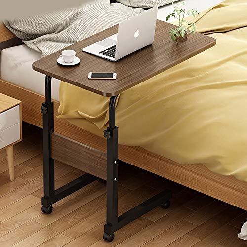 Jlxl Mesa De Ordenador Portatil, Auxiliar con Ruedas, Mesas De Centro, Mesas for Portatiles, Mesitas De Noche, Cama Sofá, Carro for Laptop (Color : F, Size : 60x40cm)