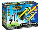The Original Stomp Rocket Stunt Planes - 3 Foam Plane Toys for Boys and Girls - Outdoor Rocket Toy...