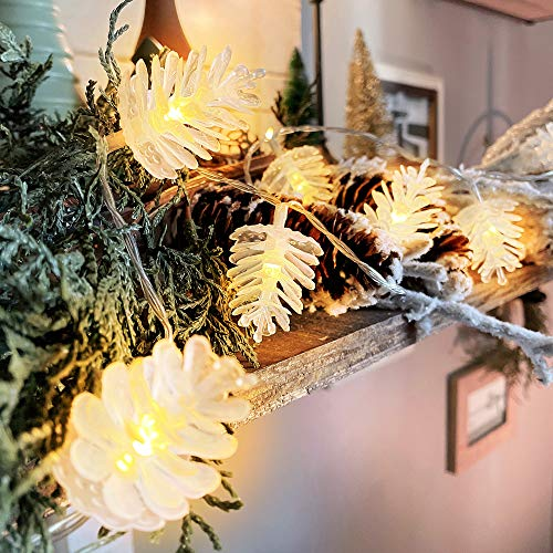 Christmas Lights Pinecone Fairy Lights with 50 Warm White LEDs