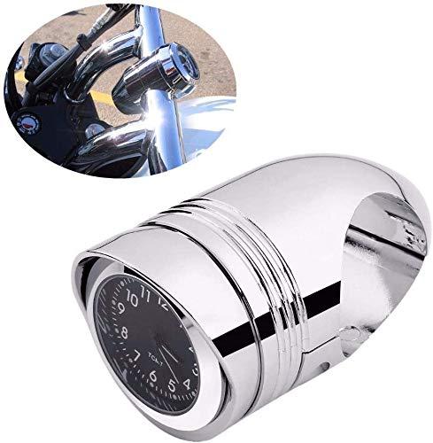 """ASDZ Praktisches Motorrad-Zubehör Chrome 1 1/4\"""" 1,25\"""" Motorrad-Lenker Uhr Halterung for Harley Chopper for Suzuki for Kawasaki for Yamaha Gute Qualität"""