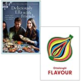 Deliciously Ella with Friends By Ella Mills (Woodward) & Ottolenghi FLAVOUR By Yotam Ottolenghi, Ixta Belfrage 2 Books Collection Set