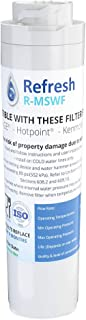 Refresh Replacement Refrigerator Water Filter for GE MSWF, Tier1 RWF1062, Aquafresh WF282, Arrowpure APF-1800, AQUACREST AQF-MSWF and IcePure RWF1500A (1 Pack)