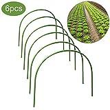 foccts 6pcs serra cerchio, rust-free crescere tunnel supporto telaio, rivestito in plastica pianta cerchi, pianta supporto giardino pali per serra