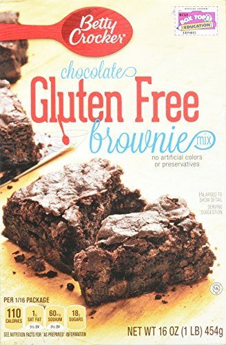Betty Crocker Gluten Free Brownie Mix, 16-ounce Boxes (Pack of 3)