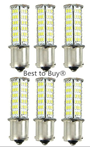 Best to Buy (6-PACK) 5.5W Ba15s 1156 1141 Super Bright Car LED Bulb 126SMD3014 AC/ DC12V White