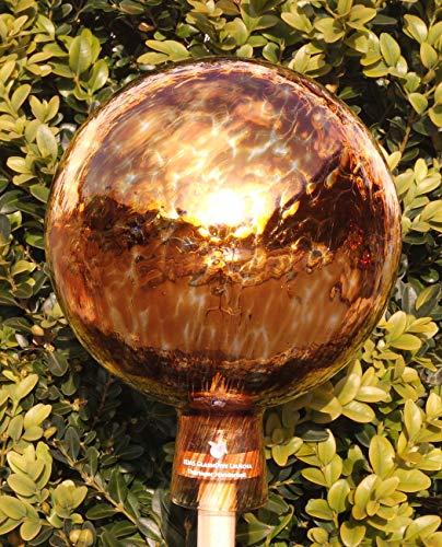 ELIAS Glashütte Original Rosenkugel Venezia Bernstein 15 cm verspiegelt
