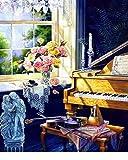 QHZCJ-DIY Ölfarbe durch Anzahl Kit, Malerei Lacke Geige Zeichnung mit Pinsel 16 * 20 Zoll Weihnachten Dekor Dekorationen Geschenke (ohne Rahmen)