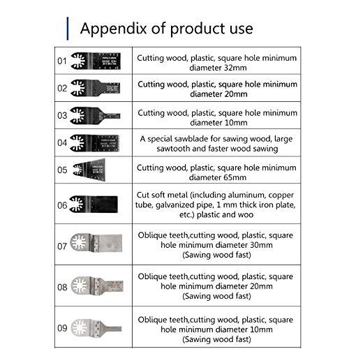 15Pcs Saw Blades Oscillating Multi Tool Accessories Kit For Worx Fein