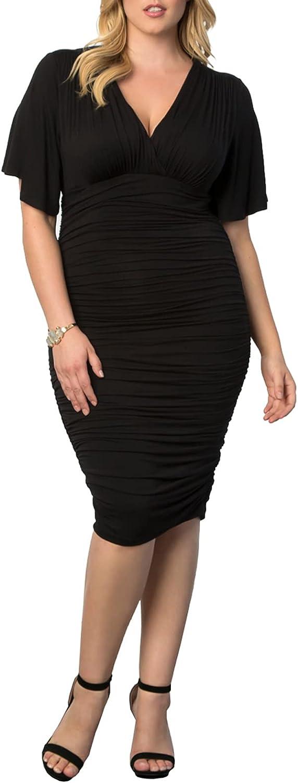 Kiyonna Women's Plus Size Rumor Ruched Dress