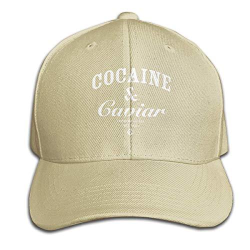 Hip Hop Baseball Cap,Cocaine-Caviar Adjustable Snapbacks Plain Sun Hats Black