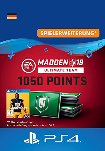 Madden NFL 19 Ultimate Team 1050 Points Pack - 1050 Points DLC | PS4 Download Code - deutsches Konto