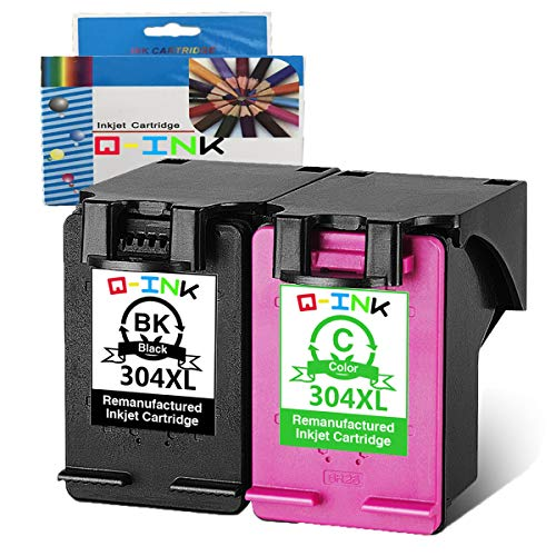 QINK Wiederaufbereitete Tintenpatrone Ersatz für HP 304 XL Verwenden für HP Deskjet 2630 envy 5030 druckerpatronen (1 schwarz + 1 Farbe)