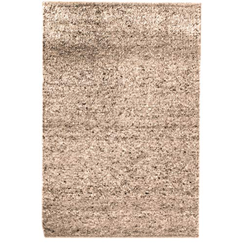 Super Area Rugs Soft Wool & Jute Mix Natural Fiber Rug, Stone Grey, 3' x 5'
