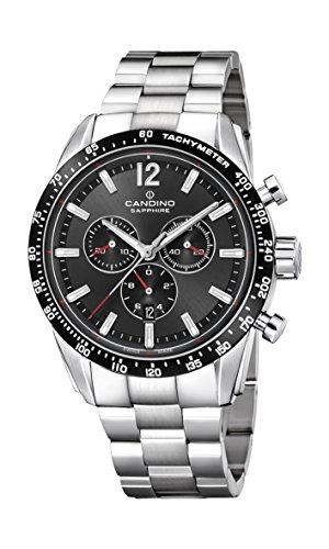 Candino Herren Chronograph Quarz Uhr mit Edelstahl Armband C4682/3
