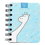 Gespout Cuaderno Notas Infantil Papelería Libreta Papel Blanco Cuadernos Estudiante Agenda Libro Notas Pintura Viaje Regalo de Cumpleaños Niños Chica Regalo de Cumpleaños Madre la Amor 10*8CM (Azul)